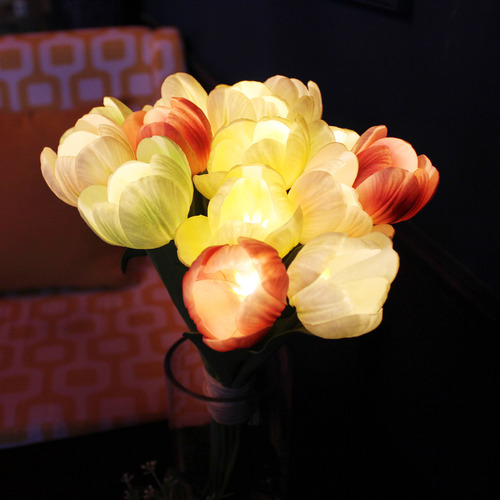 Mix Color Tulip LED Bouquet