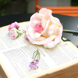 white pink elegance rose flower pen